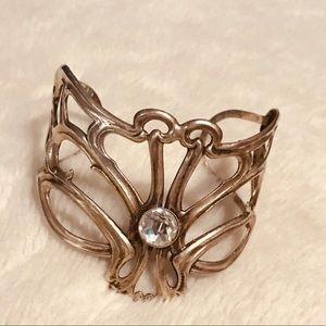 Silver Nouveau Inspired Cuff